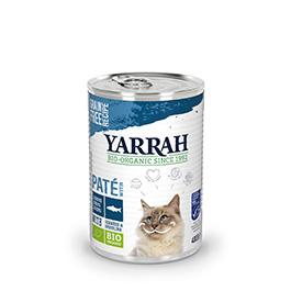 Comida de pescado en lata para gatos