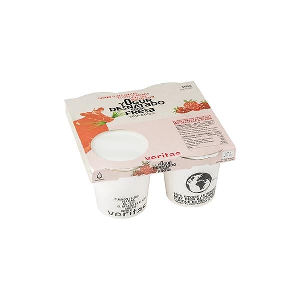 Yogurt desnatado con fresa 4x125g