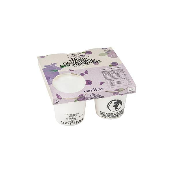 Yogurt desnatado con arándanos 4x125g ECO