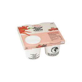 Yogur fresa Veritas 4x125g