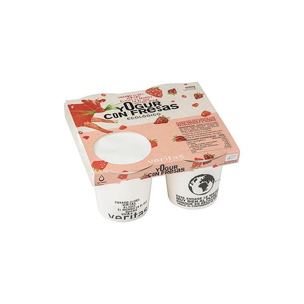 Yogurt con fresas 4x125g ECO