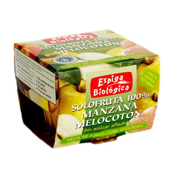 Solofruta de manzana y melocotón 2x100g