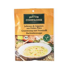 Sopa de verdures amb pasta 50g