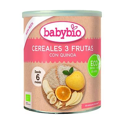 Papilla Cereales 3 Frutas 220 ECO