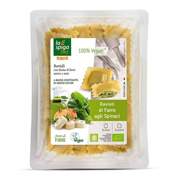 Ravioli de espelta y espinacas 250g ECO