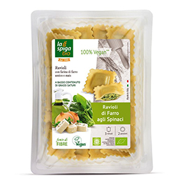 Ravioli de espelta y espinacas 250g