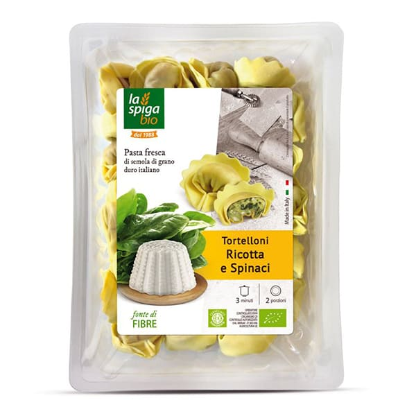 Tortelloni con ricotta y espinacas 250g ECO
