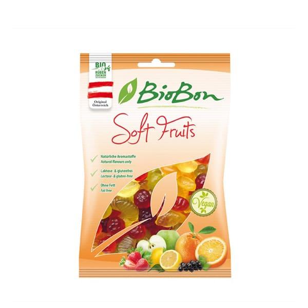 Chucherías con frutas sin gelatina 100g