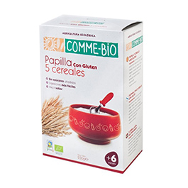 Papilla de 5 cereales para +6 meses 230g