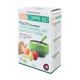 Papillas multicer. quinoa y frutas 230g ECO