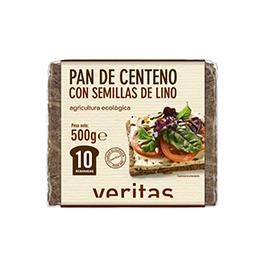 Pan alemán centeno y semillas lino 500g ECO
