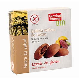 Galleta rellena de cacao 200g