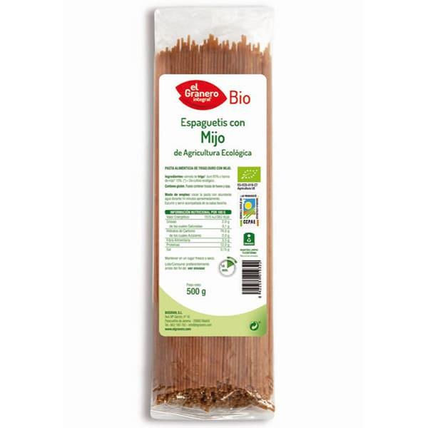 Espaguetis con mijo 500g ECO