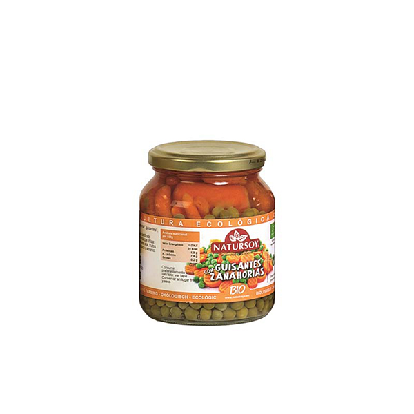 Guisantes y zanahoria 215g ECO