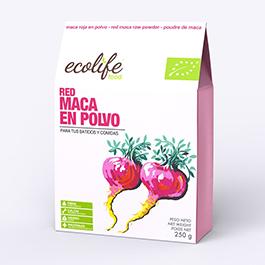 Maca roja en polvos Ecolife 250gr ECO