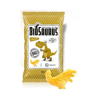 Snack maiz con Queso Biosaurius 50gr