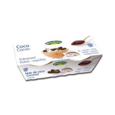 Postre coco cacao 2x125g