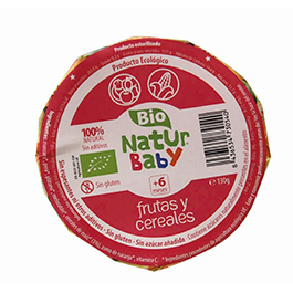 Puré de frutas con cereales 130g ECO