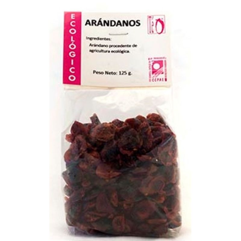 Arándanos rojos deshidratados 125g ECO