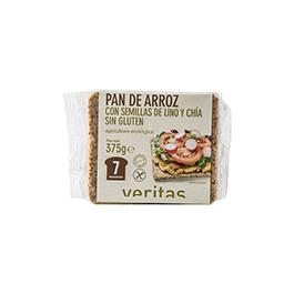 Pan sin gluten con lino y chía 375g