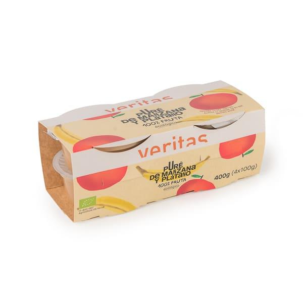 Puré de poma i plàtan 4x100g ECO