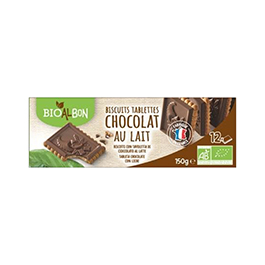 Galletas tableta chocolate c/leche 150g ECO