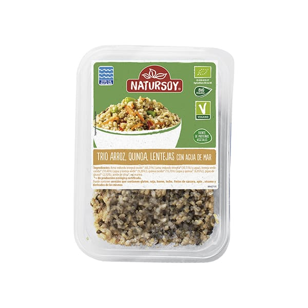 Arroz, quinoa y lentejas cocidas 400g ECO