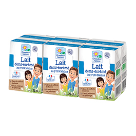 Leche semi-desnatada 6x20ml