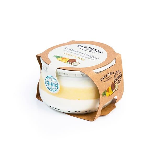 Yogur de coco y piña 135g ECO