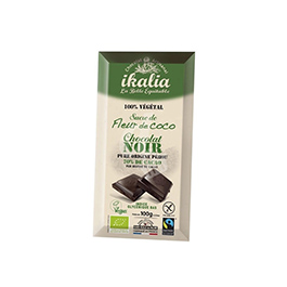 Chocolate negro con azúcar de coco 100g ECO