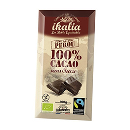 Chocolate negro 100% cacao 100g ECO