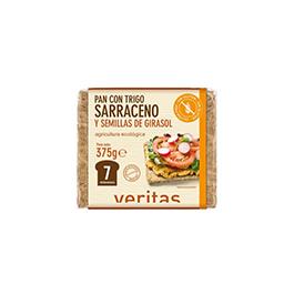 Pan trigo sarraceno y girasol 375g