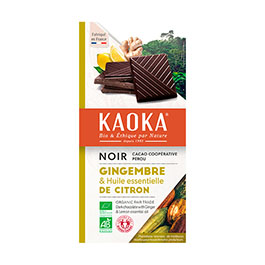 Chocolate negro c/limón y jengibre 100g