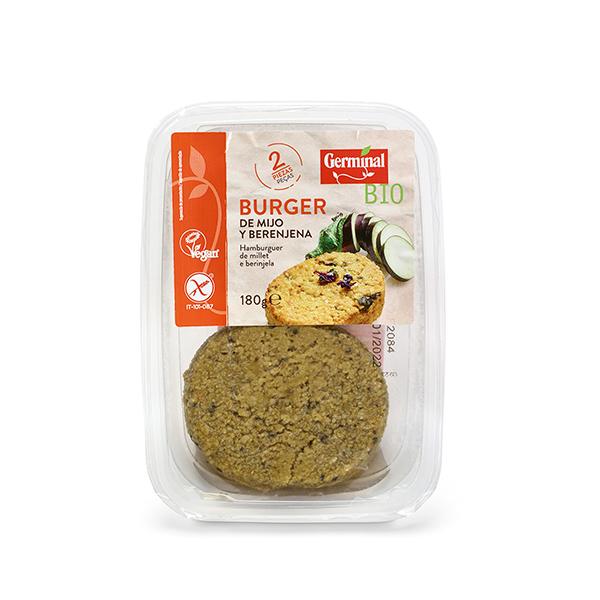 Burger de mijo/berenjena s/gluten 180g