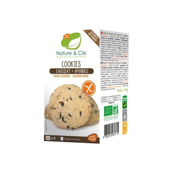 Cookies choco almendra 150g ECO