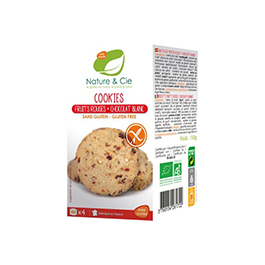 Cookies fruits vermells i xoc blanc 150g