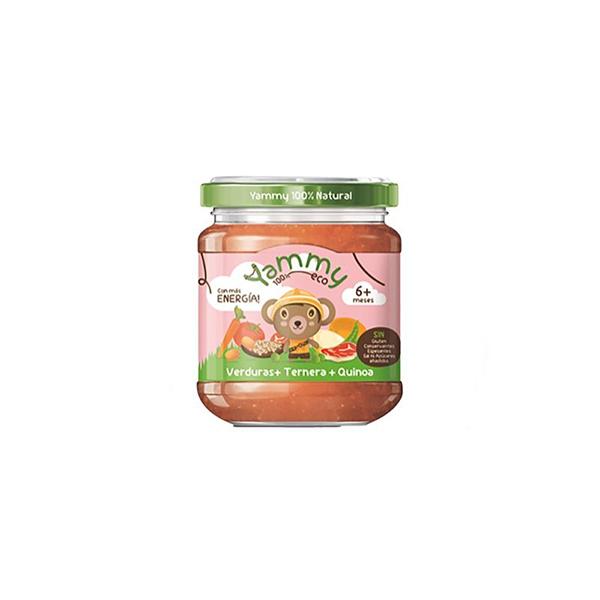 Puré verdures, vedella i quinoa 195g ECO