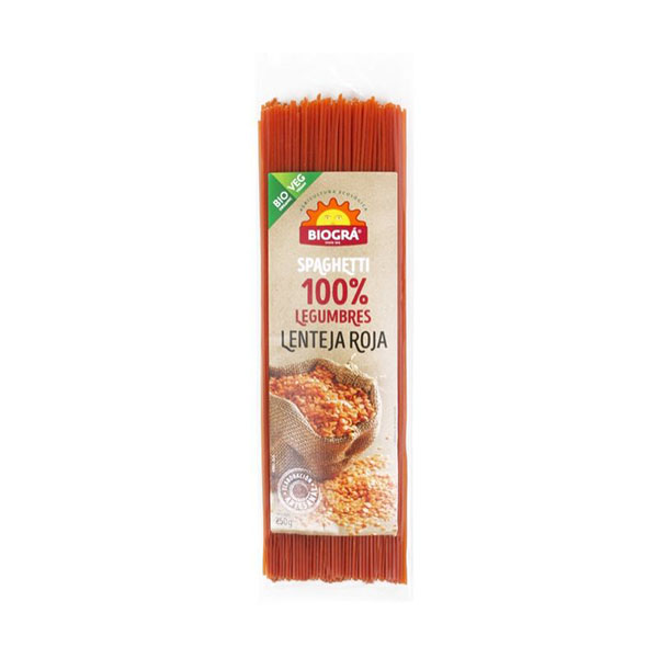 Espaguetis de lentejas rojas ECO