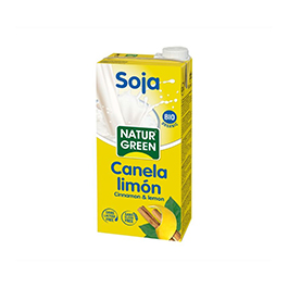 Bebida soja c/canela y limón 1l