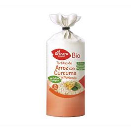 Tortitas arroz, cúrcuma/pimi. ECO