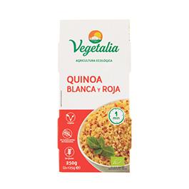 Quinoa roja/blanca cocidas 2x125g