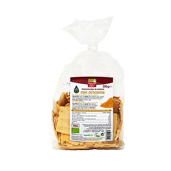 Mini crackers espelta cúrcuma ECO
