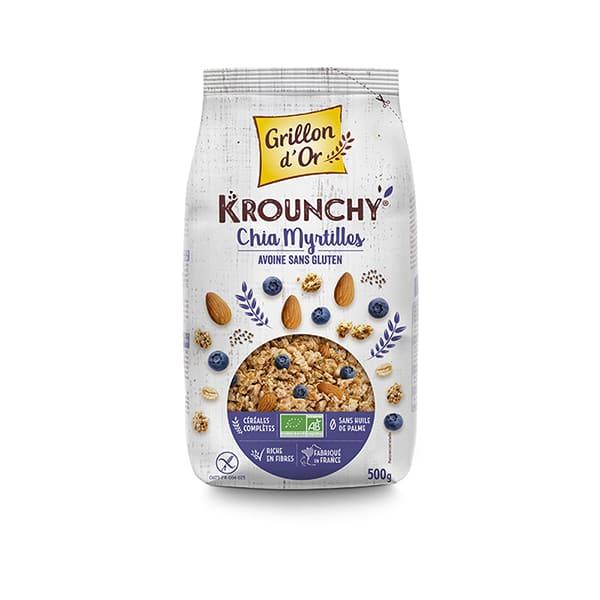 Crunchy chía arándanos 500g ECO