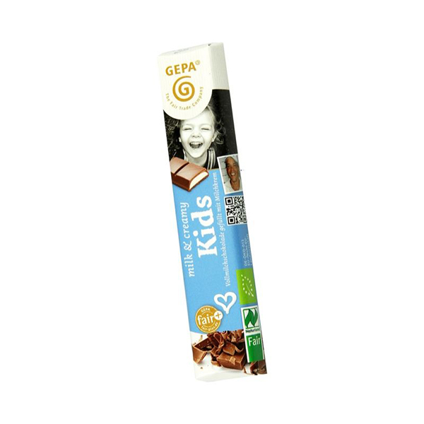 Chocolatina leche Kids 37g ECO