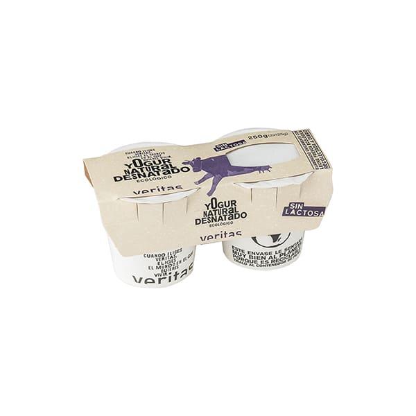 Yogur desnatado s/lactosa 2x125g ECO