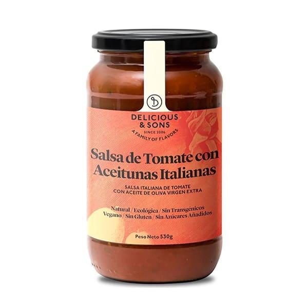 Salsa tomàquet olives 530g ECO