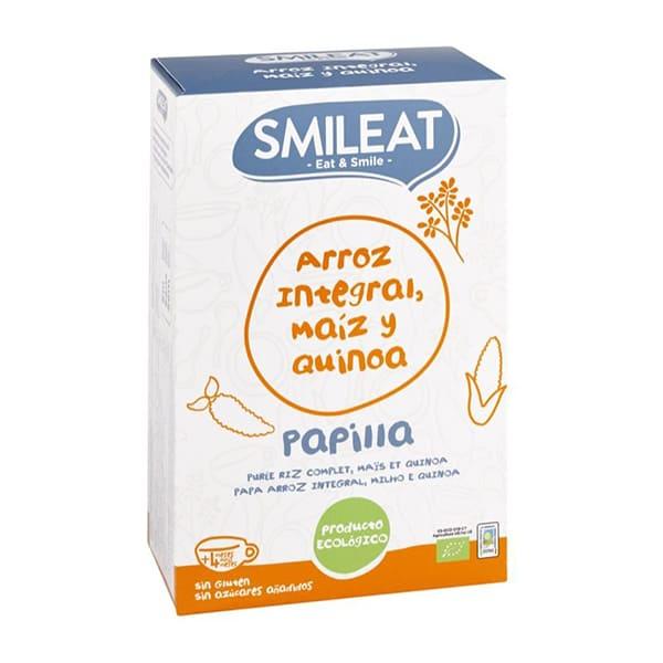 Papilla arroz integral maíz quinoa 230g ECO