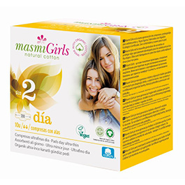 Compresas día Girls Alas T2 10un