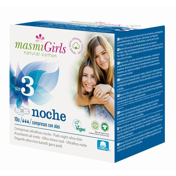 Compresas noche Girls T3 10un ECO