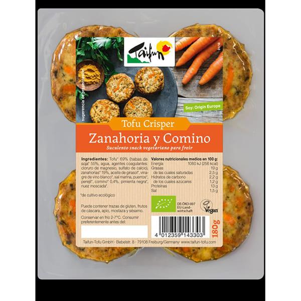 Tofu Crisper Zanahoria y Comino 180g